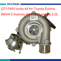 Engine turbo kit GT1749V turbo charger compressor for Toyota Estima RAV4 II Avensis Altis 2.0L 1CD engine 17201-27030 1720127030
