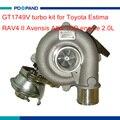 Motor kit turbo GT1749V turbo charger compressor para Toyota Estima 2.0L Avensis RAV4 II Altis 1CD motor 17201-27030 1720127030