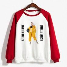 2d1c8f42eb9e MKTEER Billie eilish Raglan Oversized Hoodie Women Hooded bts Sweatshirt  Clothing