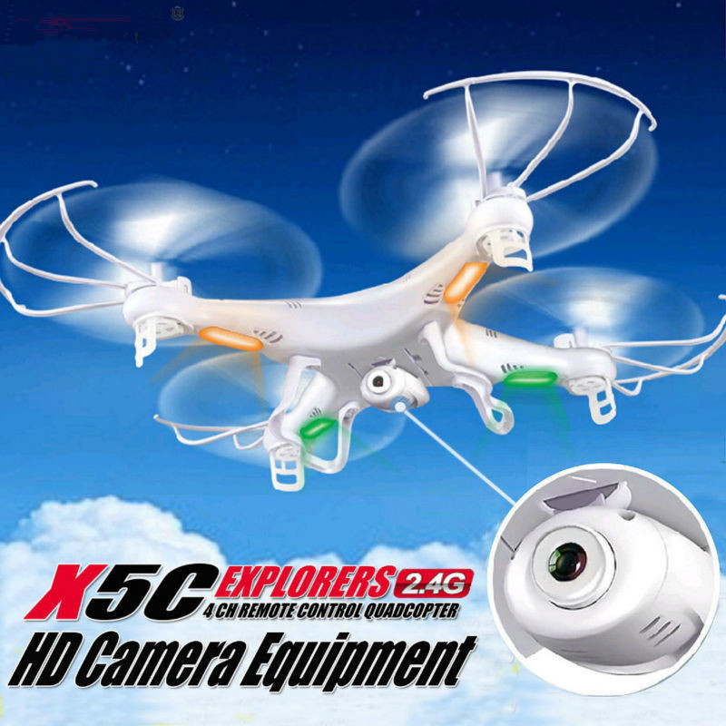 Free Shipping super hot RC Drone With Camera SYMA X5C-1 X5C Upgrade Version 2.4G 4CH 6-Axis RC Helicopter Quadcopter vs MJX X101