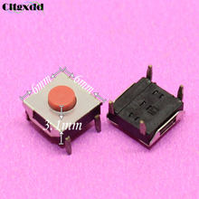 cltgxdd 1~100pcs 6*6*3.1mm 4 pin Light touch ON/OFF tact switch 6x6x3.1mm 4pin Touch Micro Switch Push Red button switch(China)