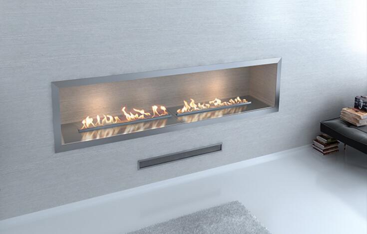 48 Inch Real Fire Intelligent Smart Automatic Bio-ethanol Fireplace