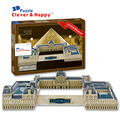 2014 new clever&happy land  3d puzzle model Louvre Museum  adult puzzle diy paper model for boy paper learning & education