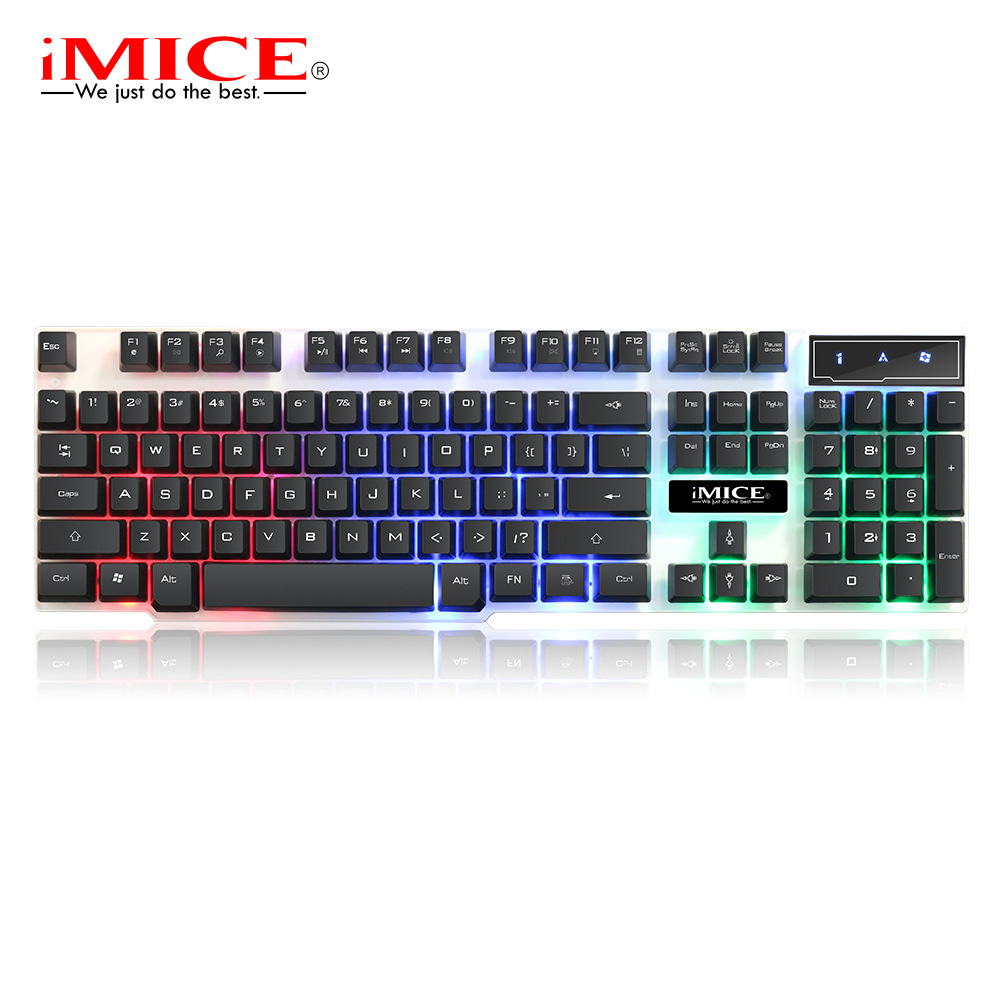 IMice Gaming Mechanical Keyboard With Backlight Game Backlit Gamer RGB For Computer PC USB Luminous Keycaps Key Cap Board Player