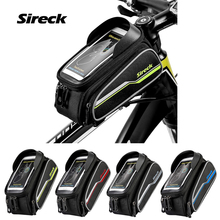 Sireck 2018 Bicycle Frame Top Tube Bag Front Mountain Bike Bag 6 0 Touchscreen Phone Pouch