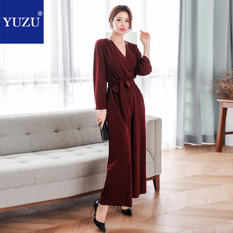 fdfeb41631b0 Rompers Womens Jumpsuit Office Lady Fall Fashion V Neck Backless Long  Sleeve Bow Lacing Bell-