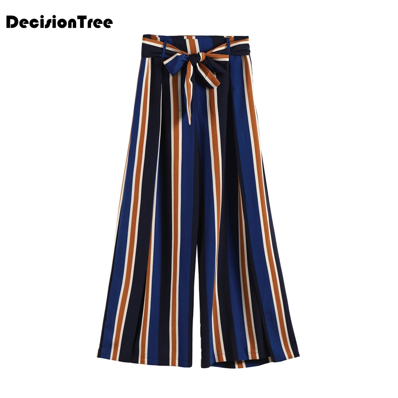 2019 new plus loose wide leg pants trousers women pantalon femme stretchy high waist casual cotton linen harem pants