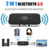 1 Sets Wireless Bluetooth 4.0 2 in 1 Audio Music A2DP Receiver Transmitter Adapter For Mobile Phones Laptop