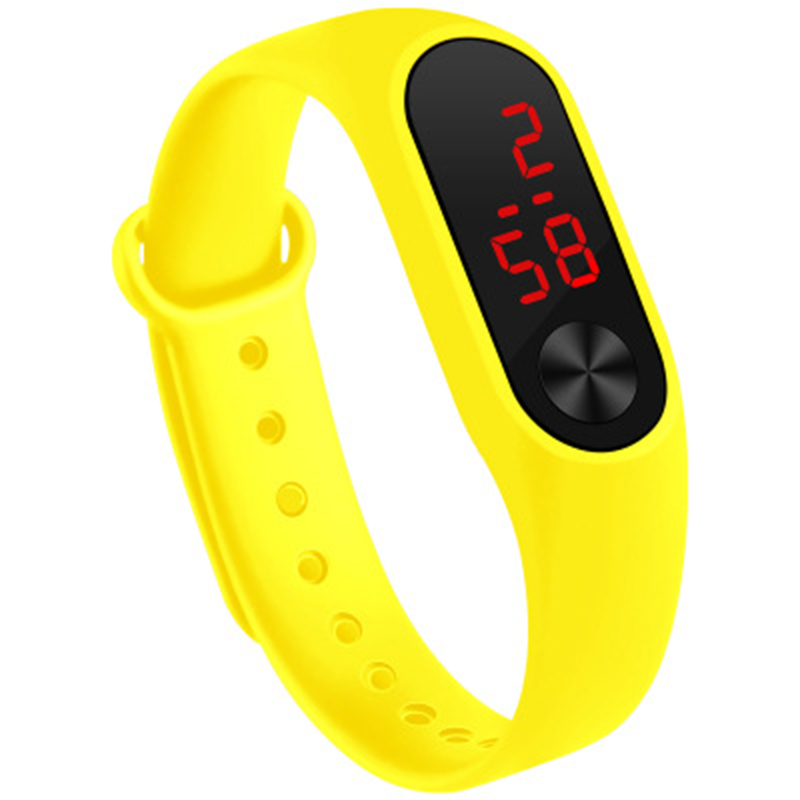 Men Women Sports Watch LED PU Strap For Couple KNG88