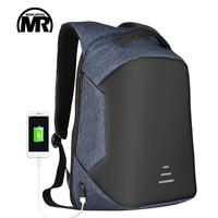 Markroyal Anti Theft Cut Men Backpack For 15 6 Inch Laptop External USB School Rucksack Large