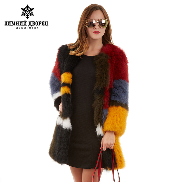Best seller Fashion hit the  the long section of fox  coat fox  popular style fur coats for women star style fox fur winter coat