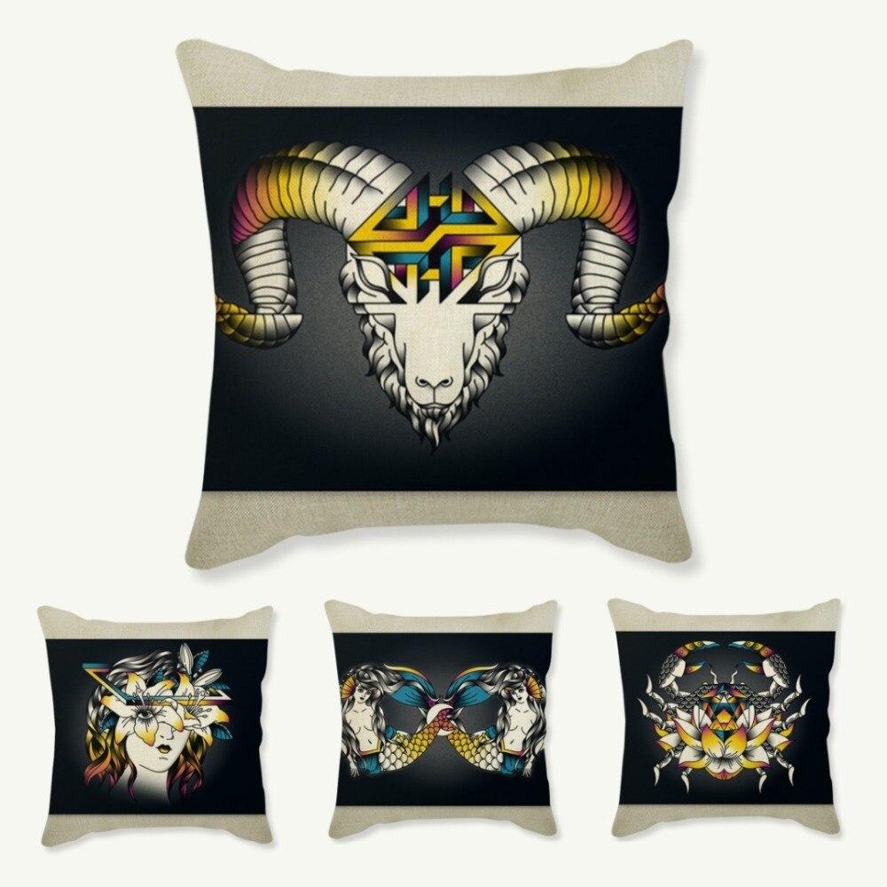 Aliexpress.com : Buy 12 Zodiac Signs Throw Pillows Home