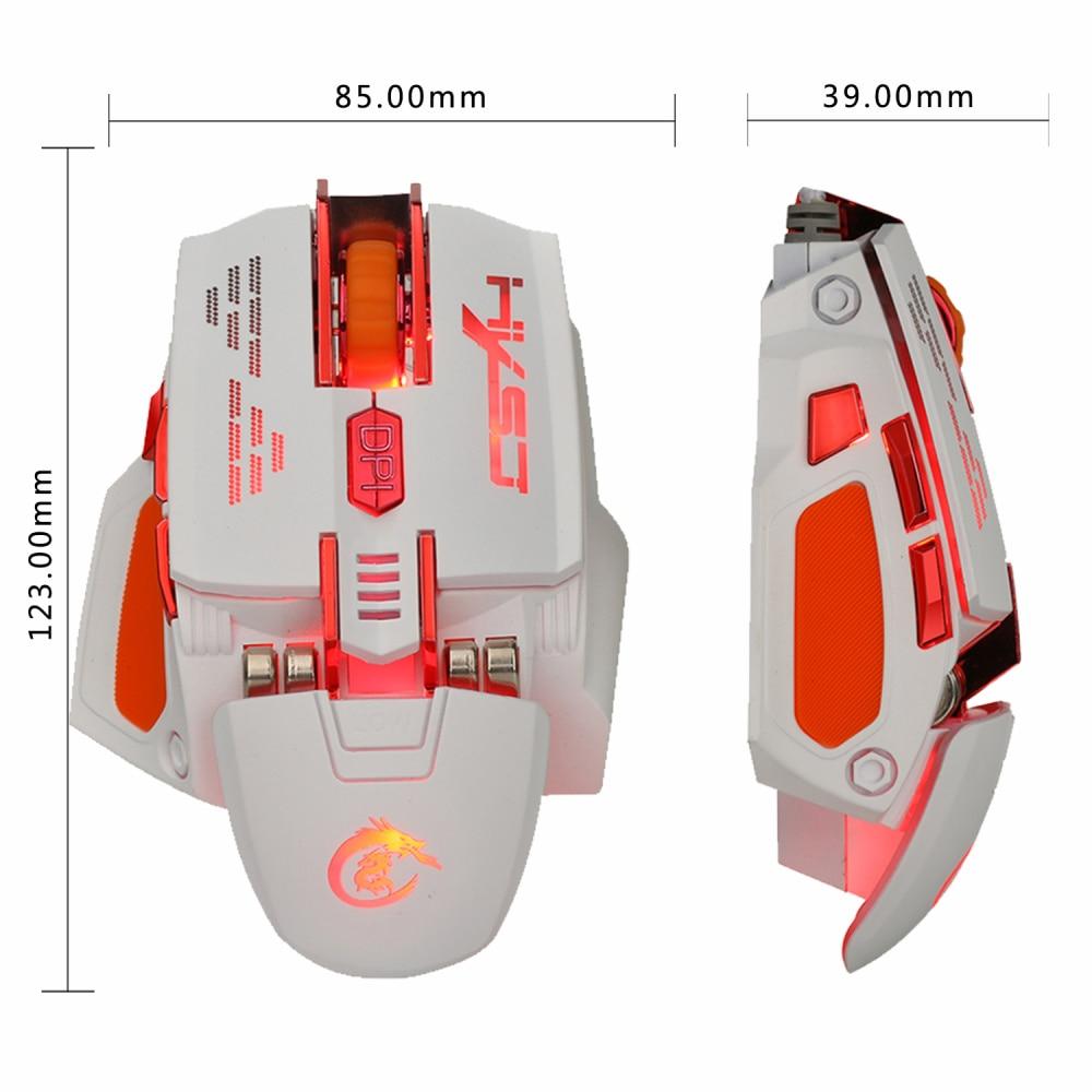 Image 3 - HXSJ X200 4000 Точек на дюйм красочный игровой Мышь 7 кнопки Home игр оптическая USB Проводная компьютерная игра Мышь-in Мыши from Компьютер и офис