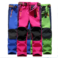 Winter Boys Pants For Girls Warm Trousers Windproof Waterproof Sport Patchwork Pants Kids Children Ski Pant