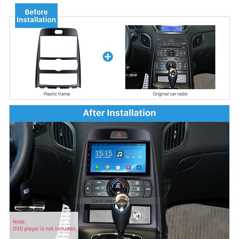 Seicane 2Din Car Radio Frame Fascia Installation Dashboard Refitting Plate Panel Bezel For 2010 Hyundai Rohens Coupe