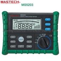FAST SHIPMENT Mastech MS5203 Digital Megger Insulation Tester Resistance Meter Tecrep 10G 1000V AC/DC Voltage Electrical Test