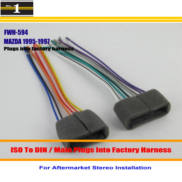 Car font b ISO b font Wiring Harness Connector Cable For font b MAZDA b font online get cheap mazda iso plug aliexpress com alibaba group mazda wiring harness connectors at webbmarketing.co