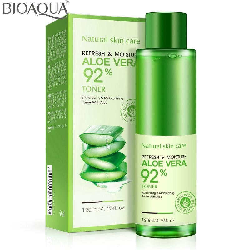 bioaqua natural aloe vera gel toner plants essence skin care moist hydrating vintamin c gel. Black Bedroom Furniture Sets. Home Design Ideas