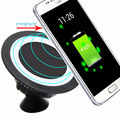 Multifunction 360 Degree Rotate Magnetic Desktop Car Qi Wireless Charger Dock Stand Holder Mount Charging Pad For Samsung S6 S7