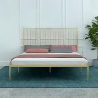 Современная Контрактная железная арт-кровать 1,8 м двойная одинарная 1,2 м детская раскладная кровать для взрослых 1,5 железо