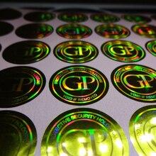 custom made void tamper evident hologram label sticker