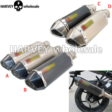 Universal Akrapovic Exhaust pipe Motorcycle Modified Exhaust Scooter Muffler For yamaha FAZER FZ6 FZ1 FZ8 FZ1000