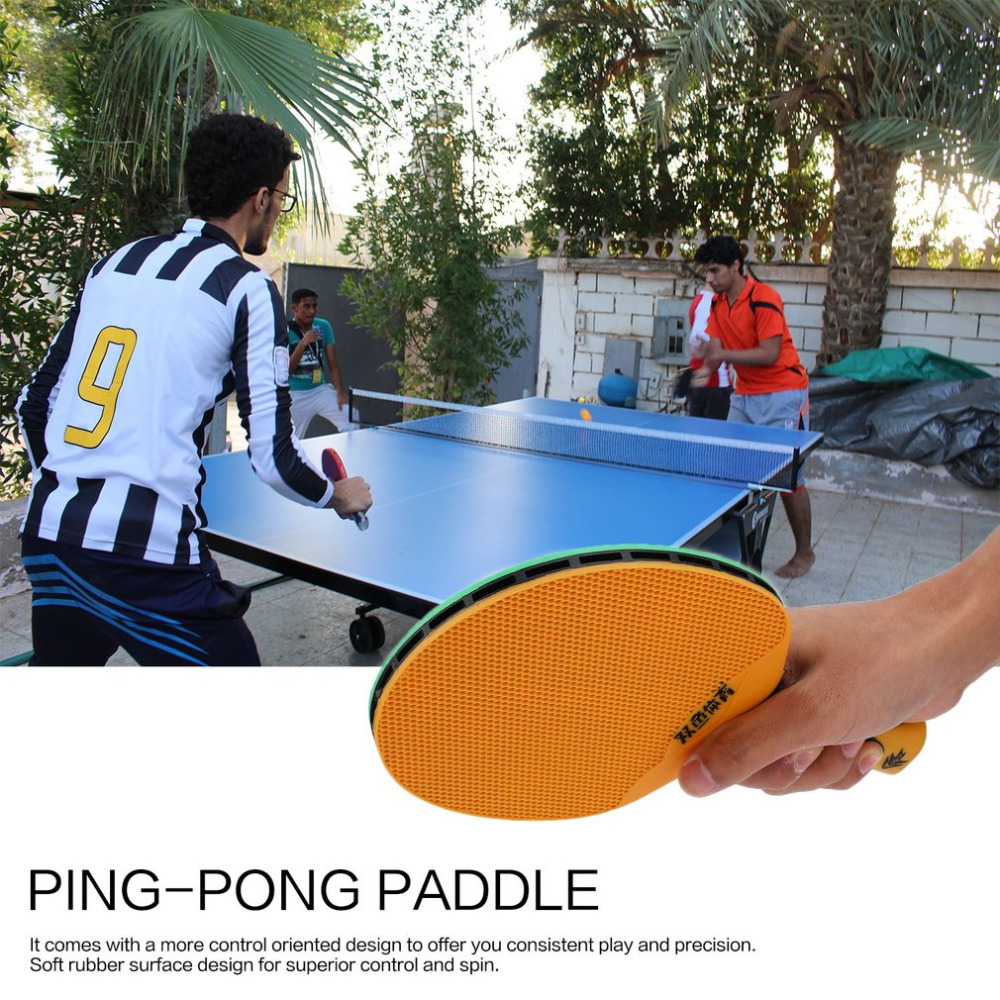Double Fish Outdoor Indoor Sports Waterproof Table Tennis Bat Portable Durable Rubber Plastic Ping Pong Paddle