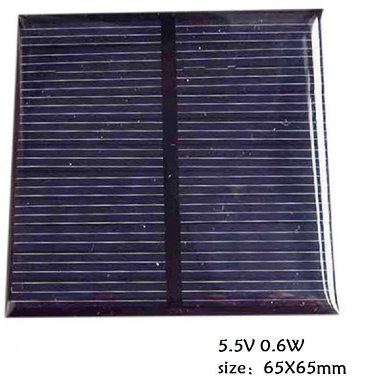 Solar Panel Module 5.5V 0.6W / 1.5V 0.65W Monocrystalline Solar Panel For Battery Cell Phone Charger DIY Model