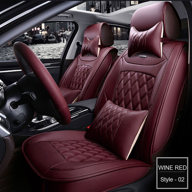 LUNDA PU Leather Seat Covers set For BMW e30 e34 x3 x5 x6 toyota Universal full Interior Accessories Protector Auto Car-Styling