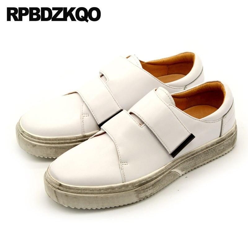 Blanc 2018 Designer Taille Printemps Chaussures Cuir VéritableHomme Confort De Décontracté Qualité Noir Grande Creepers blanc Réel Luxe Noir Supérieure luKJ3F1cT