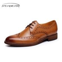 Yinzo Vrouwen Flats Oxford Schoenen Vrouw Echt Leer Sneakers Lady Brogues Vintage Casual Schoenen Voor Vrouwen Handgemaakte 2020 Lente