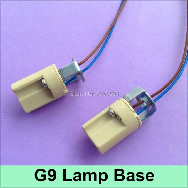 10x G9 Ceramics Lamp Base Lamp Holder G9 Fitting Socket Led Aging