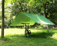Waterproof Awning Hiking Rain Cover Canopy 3*3m Portable Camping Tent Picnic Pad Multi function Outdoor Beach Sun Shelter Tent