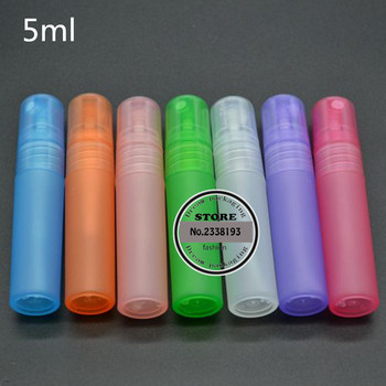 Free shipping 100pcs High-grade 5ml Plastic Spray Bottle Refillable Bottle Perfume PET Bottle with Spray Pump