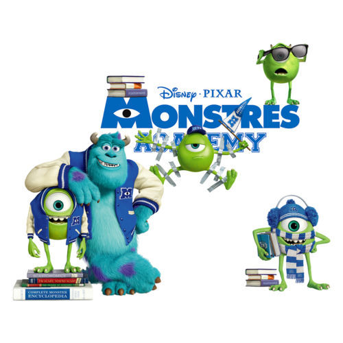 ... FULL COLOUR MONSTERS INC UNIVERSITY WALL ART STICKER DECAL GRAPHIC KIDS  DECOR Part 54
