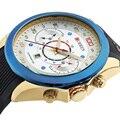 Curren mens relojes de lujo superior de la marca de deportes de los hombres relojes de cuarzo de silicona relojes de pulsera relogio masculino hombres reloj militar 8166