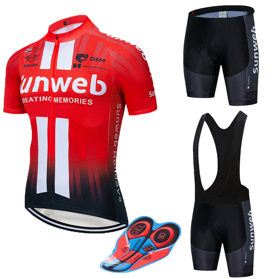 2019 RED SUNWEB pro Cycling <font><b>wear</b></font> <font><b>Bike</b></font> jersey Quick Dry Bicycle clotheing mens summer team Cycling Jerseys 20D <font><b>bike</b></font> shorts set image