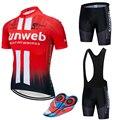 2019 ROUGE SUNWEB pro vêtements de cyclisme Vélo maillot De Vélo À Séchage Rapide clotheing d'été pour hommes équipe Maillots de Cyclisme 20D vélo ensemble short et haut