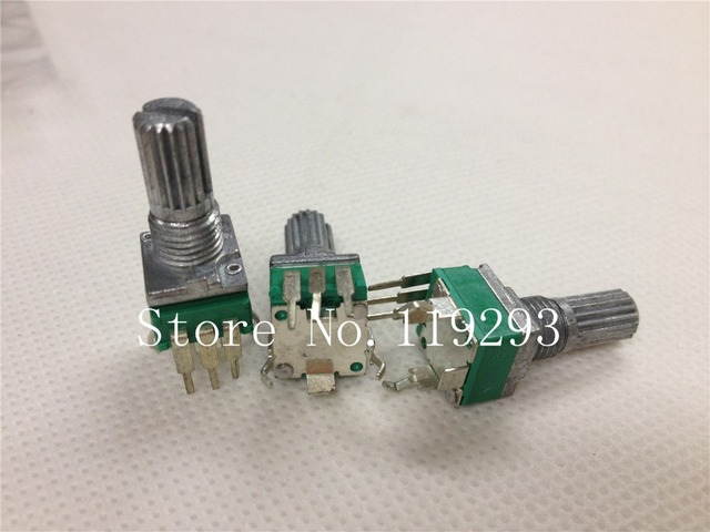 [BELLA]Spot quality precision adjustable potentiometer R09 Vertical clubfoot Single B100K-15mm rachis--50PCS/LOT