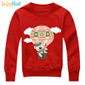 Jiuhehall Retail Children's Hoodies & Sweatshirts Hot Air Balloon Bear Pullover For Kids Cartoon Print Boy Girl Clothing HCM115