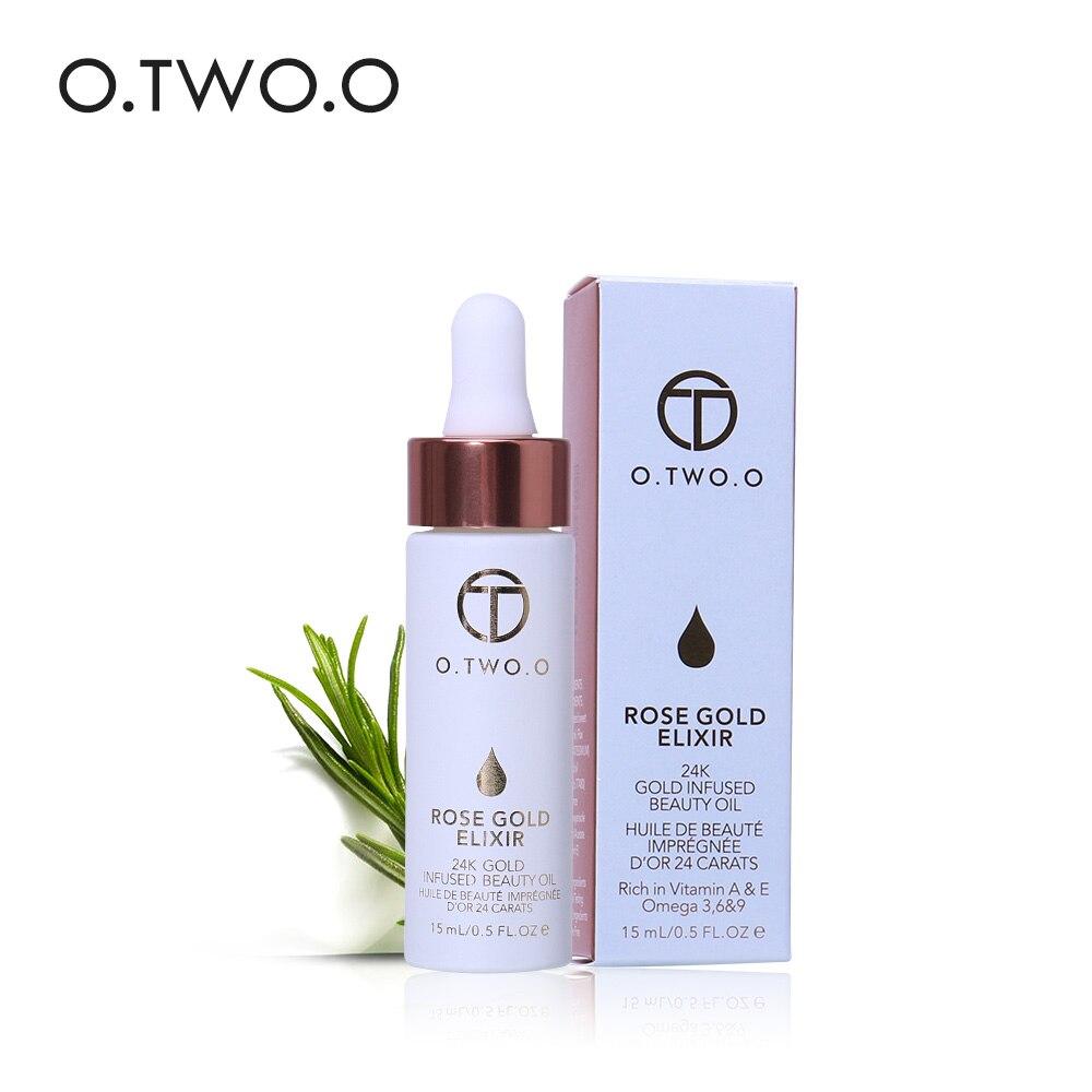 O. ZWEI. O 24 karat Rose Gold Elixir Haut Make Up Öl Für Gesicht Ätherisches Öl Vor Primer Grundlage Feuchtigkeits Gesicht Öl anti-aging