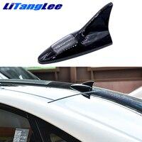 Litanglee Car Shark Fin Antena Led Light Wireless Remote Control Aerials Car Styling For Fiat 500 Punto Bravo Idea Freemont