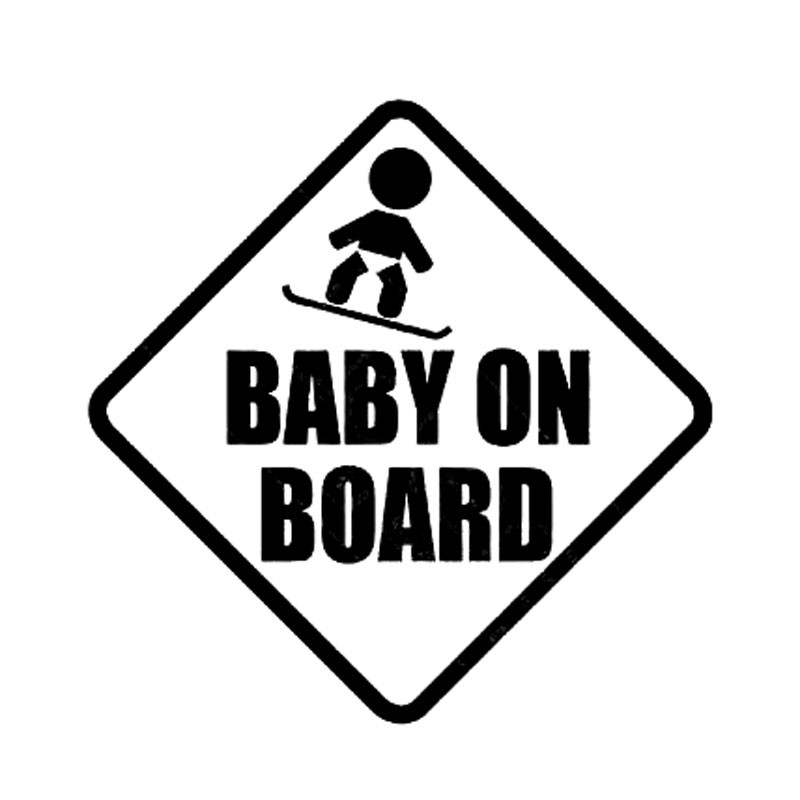 15*15CM BABY ON BOARD Car Styling Warning Decals Cute Cartoon Stickers C1 3041-in Car Stickers from Automobiles & Motorcycles on Aliexpress.com ...