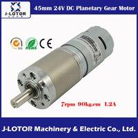 Diámetro 45mm DC planeta orientado Motores 6 ~ 8 RPM 775 24 V DC 8.82n.m 1.2a engranaje planetario Motores con relación de reducción 369: 1