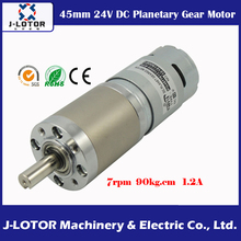 Diameter 45mm DC Planet Geared motor 6 ~ 8 rpm 775 DC 24V 8.82N.m 1.2A Planetary Gear Motor with reduction ratio 369 : 1