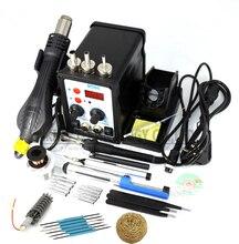 8586 2 en 1 Estación de Soldadura ESD Estación de Soldadura SMD Rework conjunto kit de herramientas De Reparación de Soldadura de Soldadura de Hierro Pistola de Aire caliente de LA UE 220 V/110 V