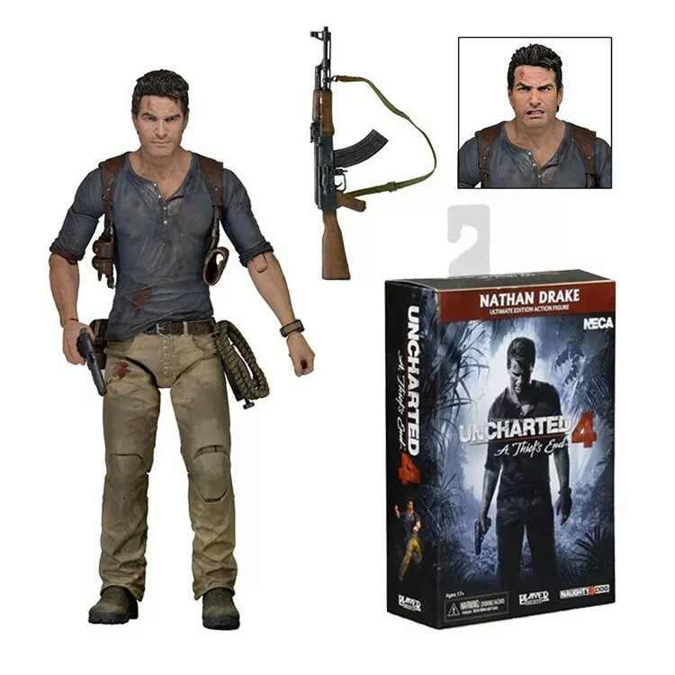 """NECA Uncharted 4 A thief's end NATHAN DRAKE Última edición PVC figura de acción coleccionable modelo de juguete 7 """"18 cm"""