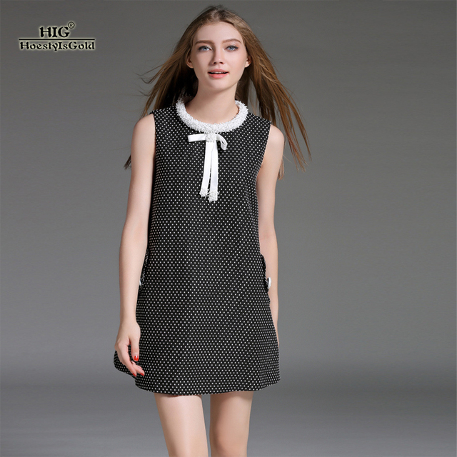 Black Chiffon Women Casual Dot Dress Brand Plus Size Autumn A Shaped Bohemian