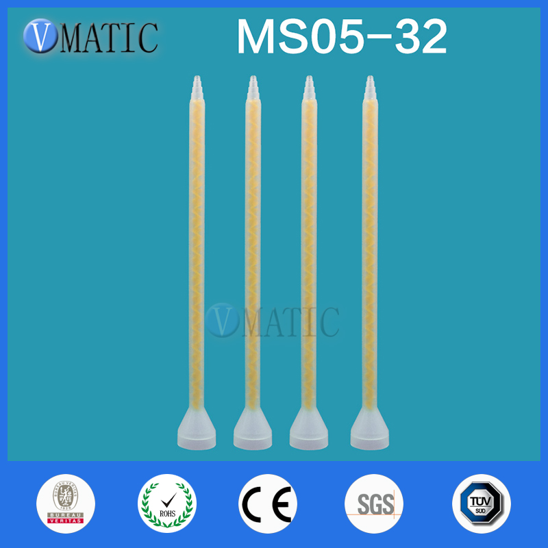 Free Shipping Plastic Resin Static Mixer MS05-32 Mixing Nozzles For Duo Pack Epoxies (Yellow Core)