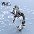 Beier 316L Stainless Steel ring Alien  Predator Finger Rings For Men Gothic Style Movie ring  BR8-358